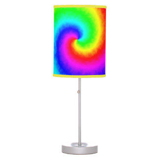 Luminária Candeeiro de mesa do redemoinho do arco-íris da