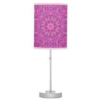 Luminária Candeeiro de mesa roxo cor-de-rosa do