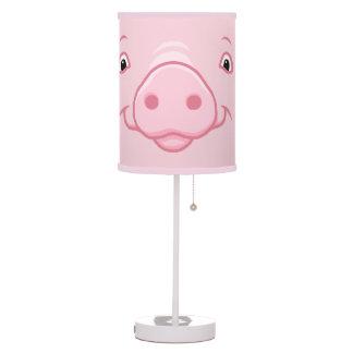 Luminária Cara cor-de-rosa feliz bonito do porco