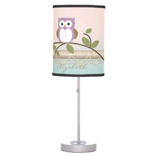 Luminária Coruja bonito feminino adorável, personalizada