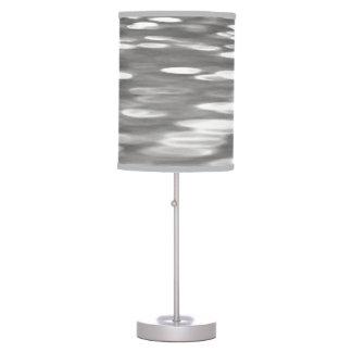 Luminária De Mesa #3 abstrato: Shimmer do cinza de prata