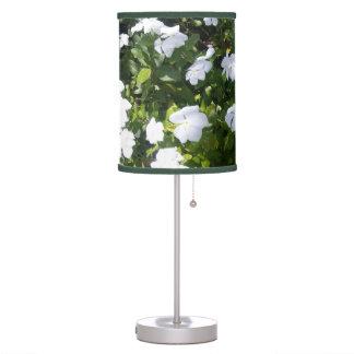 Luminária De Mesa A pervinca branca adorável floresce o candeeiro de