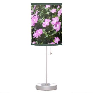 Luminária De Mesa A pervinca cor-de-rosa bonito floresce o candeeiro