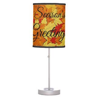 Luminária De Mesa A queda deixa a lâmpada dos cumprimentos da