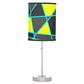 Luminária De Mesa amarelo de néon brilhante geométrico elegante e