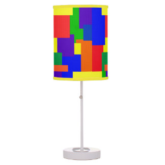 Luminária De Mesa Arco-íris colorido design Textured da edredão de