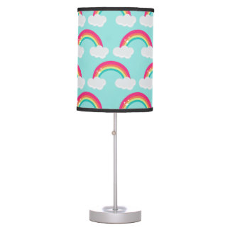 Luminária De Mesa Arco-íris e candeeiro de mesa das nuvens