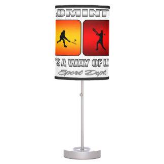 Luminária De Mesa Badminton legal é um modo de vida