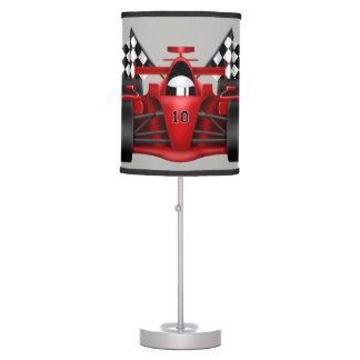 Luminária De Mesa Bandeira Checkered do carro de corridas da lâmpada