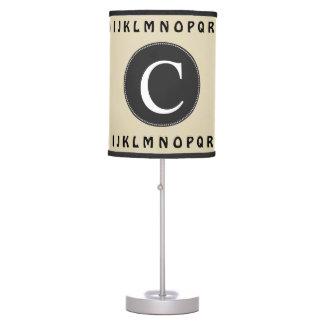 Luminária De Mesa Berçário simples do alfabeto do monograma