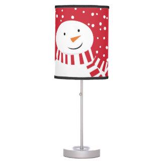 Luminária De Mesa boneco de neve vermelho e branco contemporâneo