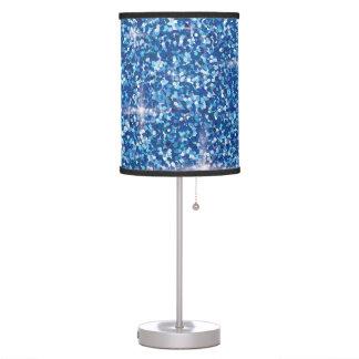 Luminária De Mesa Brilho iridescente azul