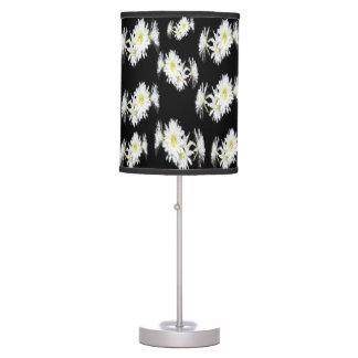 Luminária De Mesa Cactos preto e branco flor, candeeiro de mesa