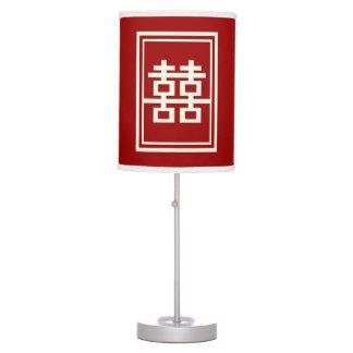 Luminária De Mesa Caixa chinesa vermelha do casamento da felicidade