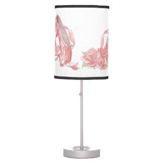 Luminária De Mesa Calçados e rosas do pointe da bailarina