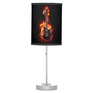 Luminária De Mesa Candeeiro de mesa ardente da guitarra