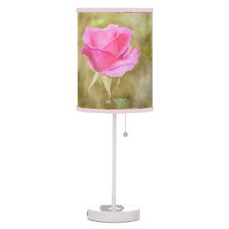Luminária De Mesa Candeeiro de mesa botânico do quarto do rosa do