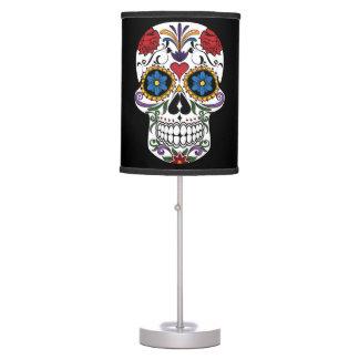 Luminária De Mesa Candeeiro de mesa colorido do crânio do açúcar