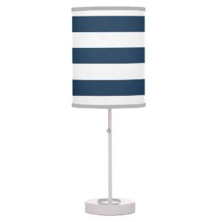 Luminária De Mesa Candeeiro de mesa corajoso do azul marinho e o bra