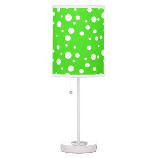 Luminária De Mesa Candeeiro de mesa das bolinhas do verde limão e do