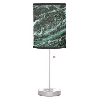 Luminária De Mesa Candeeiro de mesa de pedra de mármore verde da