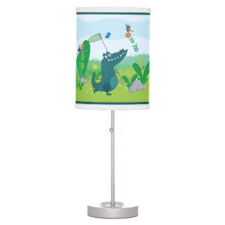 Luminária De Mesa Candeeiro de mesa feliz do jacaré