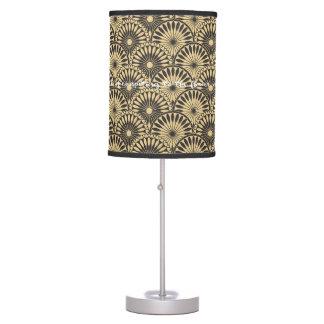 Luminária De Mesa Candeeiro de mesa floral amarelo do teste padrão