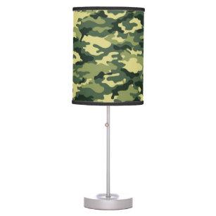 Luminária De Mesa Candeeiro de mesa verde clássico da camuflagem 8f3930343e6