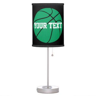Luminária De Mesa Candeeiro de mesa verde do basquetebol