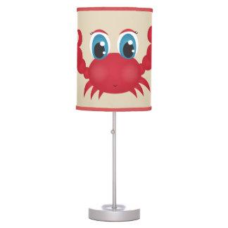 Luminária De Mesa Caranguejo feliz bonito da lâmpada do miúdo