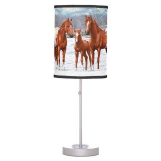 Luminária De Mesa Cavalos do Appaloosa da castanha na neve