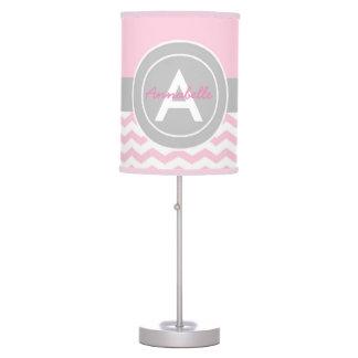 Luminária De Mesa Chevron cinzento cor-de-rosa