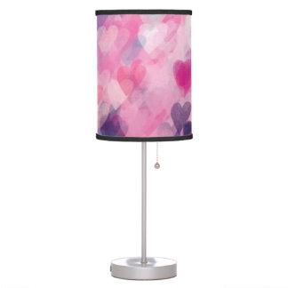 Luminária De Mesa Chique bonito e cor-de-rosa do coração dos