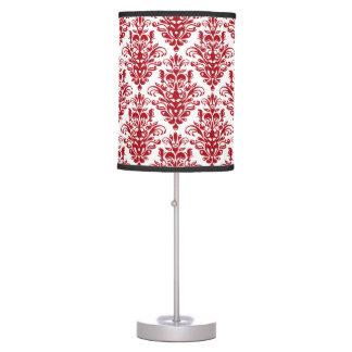 Luminária De Mesa Cor damasco vermelha e branca da obscuridade