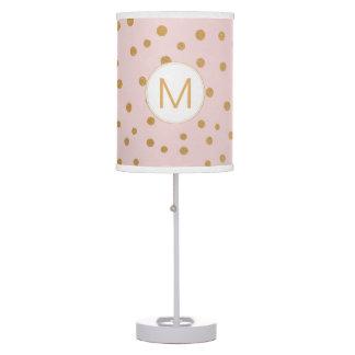 Luminária De Mesa Cora a lâmpada cor-de-rosa do monograma do ponto