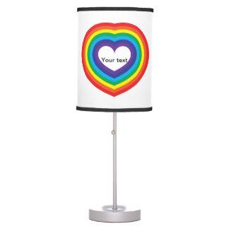 Luminária De Mesa Coração do arco-íris