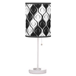 Luminária De Mesa Design abstrato Curvy preto e branco