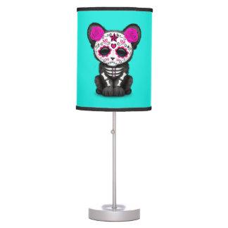 Luminária De Mesa Dia cor-de-rosa da pantera preta inoperante Cub