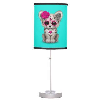 Luminária De Mesa Dia cor-de-rosa do leão Cub inoperante