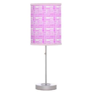 Luminária De Mesa Efeito cor-de-rosa dos azulejos
