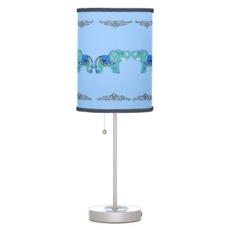 Luminária De Mesa Elefante do Henna (azul/luz - azul)