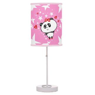 Luminária De Mesa Engraçado bonito dos ursos de panda personalizado