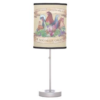Luminária De Mesa Galinhas e vinho