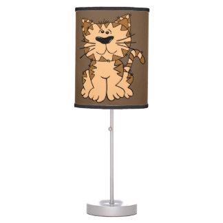 Luminária De Mesa Gatinho bonito do gato malhado da lâmpada das