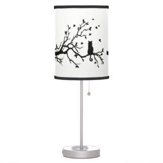Luminária De Mesa Gato preto elegante
