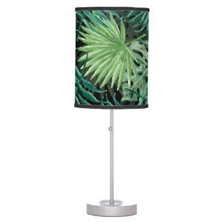 Luminária De Mesa Grande palma de samambaia verde e plantas