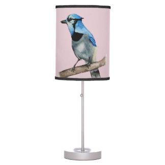 Luminária De Mesa Jay azul na pintura da aguarela do ramo