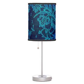 Luminária De Mesa Laço gótico dos azuis marinhos do Victorian