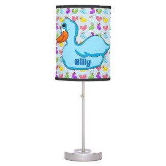 Luminária De Mesa Lâmpada azul do pato