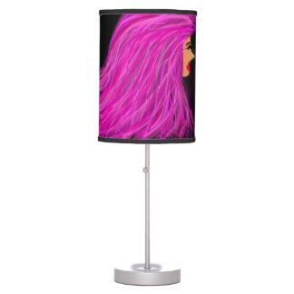 Luminária De Mesa Lâmpada cor-de-rosa da senhora do cabelo